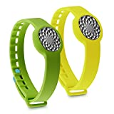 kwmobile 2in1 set: 2x sport spare bracelet for Jawbone UP Move in green yellow Inner dimensions: approx. 15,5 - 23 cm - silicone bracelet with closure without tracker
