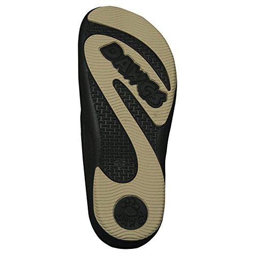DAWGS Womens Premium Flip Flop Black/tan cLGqX