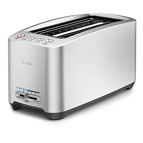 Breville BTA830XL Die-Cast 4-Slice Long Slot Smart Toaster (Toaster 4 Breville Slice)
