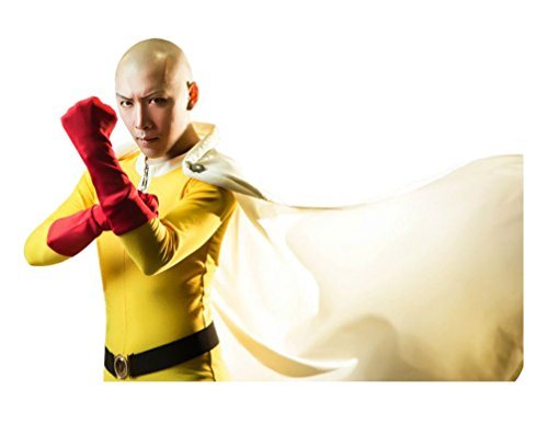 One Man Band Costume (Dazcos Premium Anime One Punch Man Saitama Cosplay Costume Full Sets (Men S))