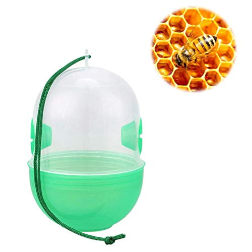 dezirZJjx Bee Catcher, 2Pcs Capsule Shape Hanging Wasp Bee Bug Fly Trap Harmless Garden Insect Catcher, Hanging, Easy to Use, Safe