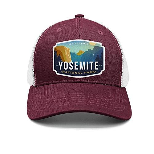 - Yosemite National Park California Unisex Cotton Designer Caps Adjustable Mesh Trucker Hats