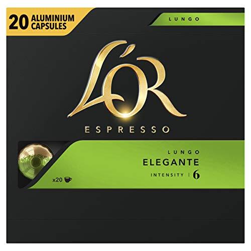 L'OR Espresso Koffiecups Lungo Elegante (200 Lungo Koffie Capsules, Geschikt voor Nespresso Koffiemachines, Intensiteit…