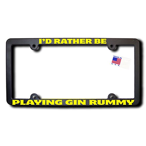 James E. Reid Design I'd Rather Be PLAYING GIN RUMMY License Frame v2 w/Yellow ()