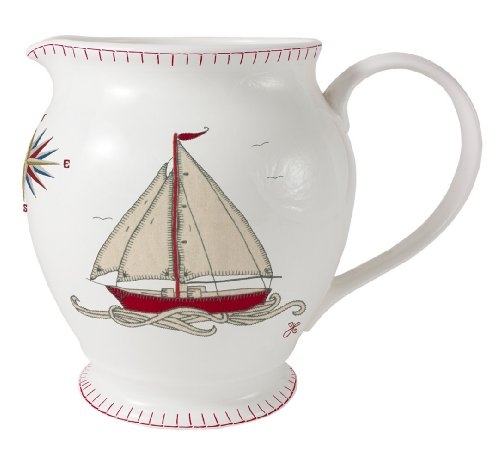 Jan Constantine 1-Piece Bone China Small Jug Seaside Boat, Assorted