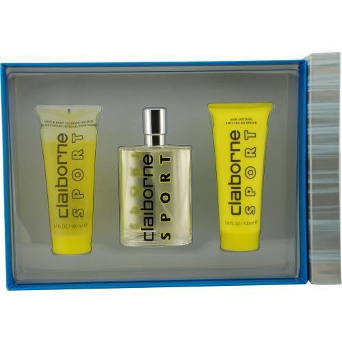Claiborne Sport By Liz Claiborne For Men Cologne Spray 3.4 Oz & Hair And Body Cleanser 3.4 Oz & Skin Soother 3.4 Oz