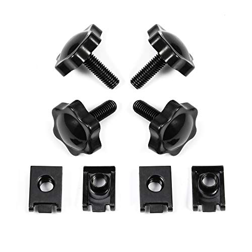 Amazicha Security Theft Deterrent Saddlebag Locks for Harley Davidson Touring 2004-2016 Bolts Screws Mounting Hardware Knobs Fastening Fastener Black
