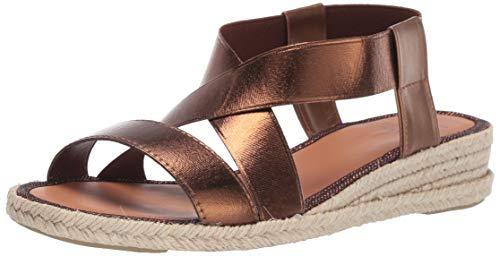 (Aquatalia Women's Maggie Calf/Elastic Sandal, Bronze, 11 M US)