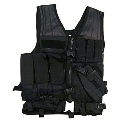 VISM by NcStar Tactical Vest, Black, Larger (CTVL2916B)