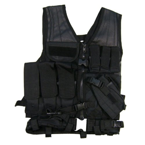 VISM by NcStar Tactical Vest, Black, Larger