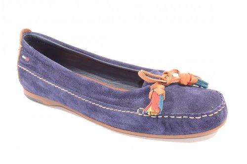 Tommy Hilfiger Penley 3b - Mocasines de cuero nobuck para mujer, color azul, talla 36: Amazon.es: Zapatos y complementos