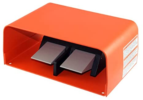 Momentary Single Stage Electrical Orange Single Pedal Linemaster 532-SWHOX Hercules Foot Switch DPDT Extra Oversized Aluminum Guard