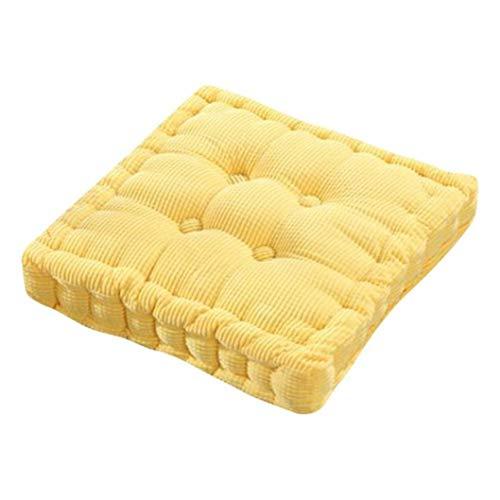 OLEEKA Almohada Redonda Tatami Mat Fat Pad Cojin de Asiento de algodon Silla de Oficina para el hogar Cojin de Asiento de Color solido Grueso Decoracion para el hogar