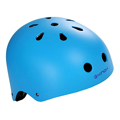 MagiDeal Outdoor Sports Safety Helmet for Rock Climbing Caving Rappelling Head Guard Cycling Head Protective Gear - Frosted Blue, S (Helmet Climbing Mountain)