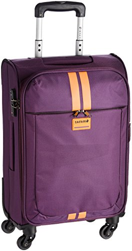 Safari Racin Polyester 56 cms Purple Soft sided Carry-On (Racin-56-Purple-4WH)