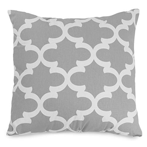 Majestic Home Goods Trellis Pillow, X-Large, Gray