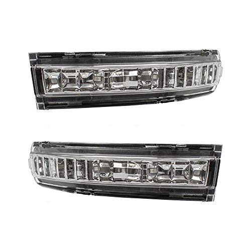 - Pair Set Mirror Turn Signal Lens Left + Right Side Replacement for 07-13 Nissan Altima 26443ZX50A 26442ZX50A