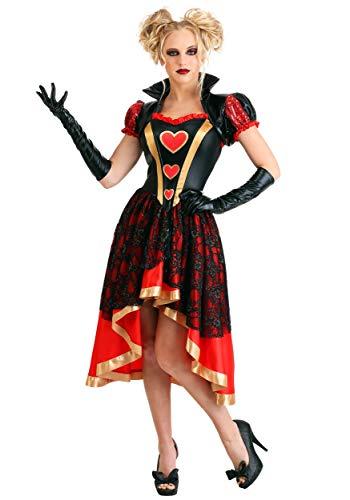 Women's Dark Queen of Hearts Costume Medium
