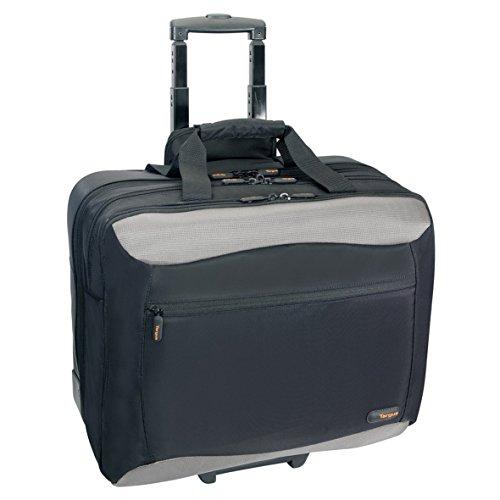 Targus CityGear Rolling Travel Case for 17-Inch Notebooks, Black/Yellow (TCG717)