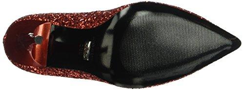Buffalo London11335-269 GLITTER - Zapatos de Tacón Mujer Rojo - rojo