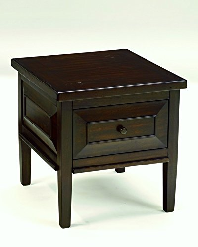 Ashley Furniture Signature Design - Hindell Park Square End Table - 1 Drawer - Vintage Casual - Rustic Brown
