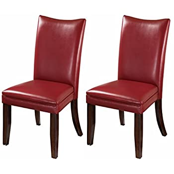 Ashley Furniture Signature Design - Charrell Dining Side Chair - Set of 2 - Red