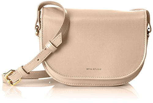 Royal RepubliQ Raf Curve Evening Bag, Borse a spalla Donna Bianco Sporco (Nude)