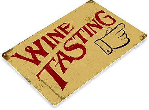Tinworld Tin Sign Wine Tasting Rustic Vineyard Metal Sign Decor Kitchen Cottage Farm Bar A687
