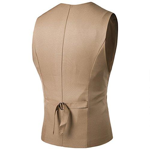 Business Waistcoat Sleeveless Khaki Vest Skinny Respirable Zhhlaixing Formal Men's Casual Dress pExTEqBwH