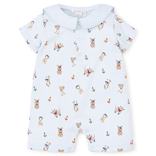 - Kissy Kissy Baby-Boys Infant Salty Dogs Print Short Playsuit with Collar-Blue-12-18 Months