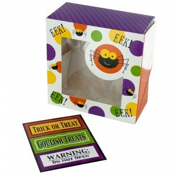 Halloween Treat Boxes for Cupcakes or Cookies - 6 Pack (Halloween Cakes And Treats)