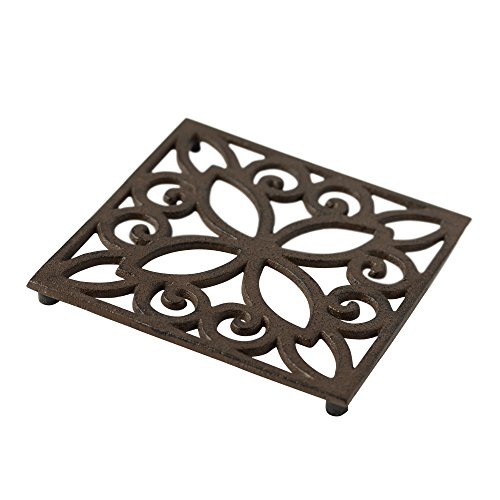 Kitchen Trivets: Decorative Cast Iron Trivet For Kitchen Or Dining Table