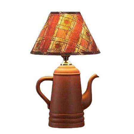 Rishx Retro Creativo Tetera de cerámica lámpara de Mesa Escritorio ...