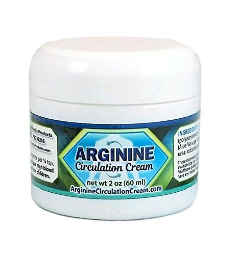 Arginine Circulation Cream - Menthol and L Arginine Blood Circulation Supplement - Supports Improved Blood Flow to Cold Hands and Cold Feet and Neuropathy Pain Relief (2 Ounces)