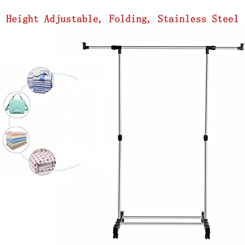 Fashine Stainless Steel Adjustable Height Folding Clothes Sh