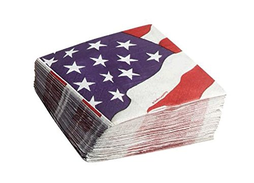 Americana アメリカ国旗 使い捨てペーパーナプキン 5インチ 50枚 B07FRVFHRX