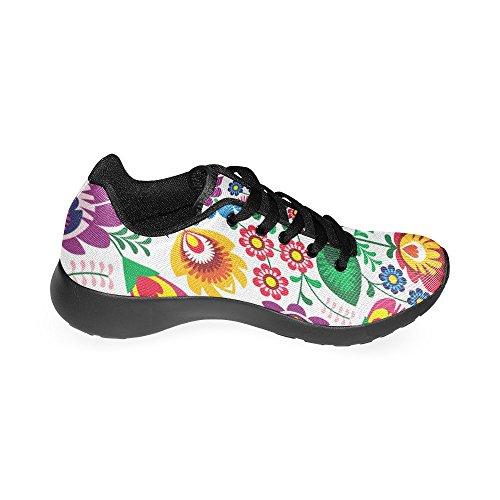 Scarpe Da Corsa Da Donna Winterprint Jogging Leggero Sportivo A Piedi Sneakers Atletiche Fiori Rossi