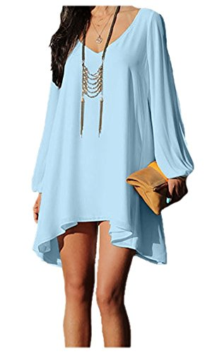 ARJOSA Chiffon V Neck Sleeve Casual