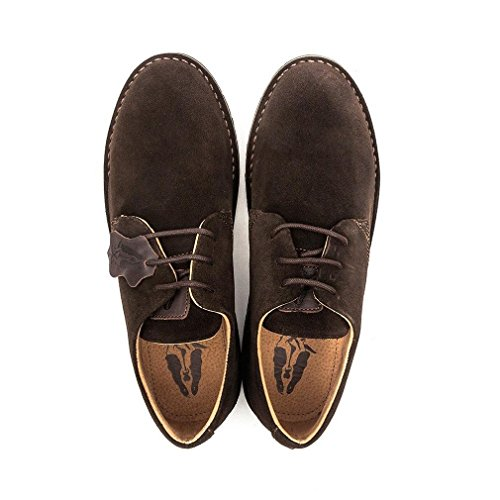 Hush Puppies Irvine Chocolate Brown Suede Derby Shoes
