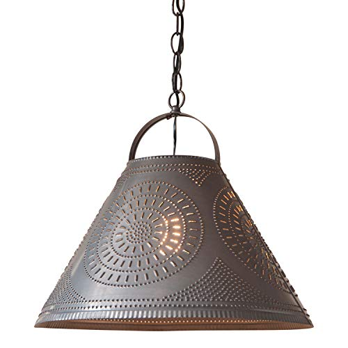 (Homestead Shade Pendant Light in Punched Tin)