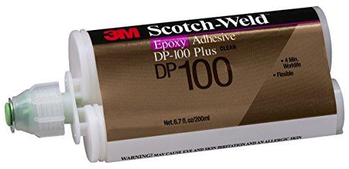 - 3M Scotch-Weld 87266 Epoxy Adhesive DP100 Plus, 200 mL, Clear, 6.763 fl. oz.