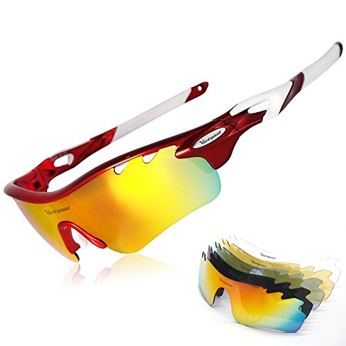Sports Sunglasses Polarized for Men and Women, VICTGOAL 5 Interchangeable Lenses Tr90 Frame UV400 Protection Fishing Driving Running Golf Cycling Glasses - The Sunglasses Are Which Best