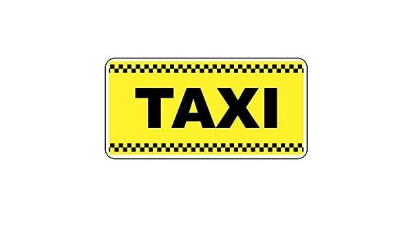 Letrero de Metal Estilo Retro, Color Amarillo Taxi, 20 x 30 ...