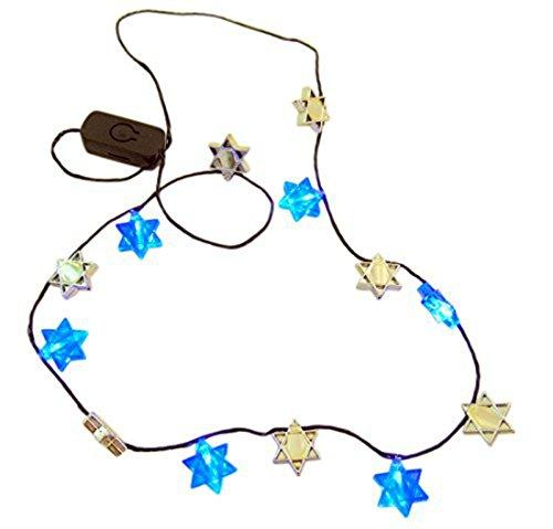 Hanukkah Flashing Necklace Star of David Flashing LED Holiday Party Wear]()