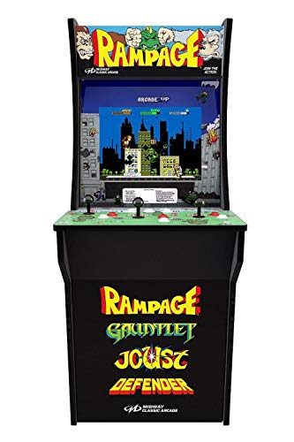 Arcade1Up Rampage - Classic 4-in-1 Game Home Arcade, 4ft ()
