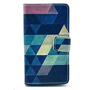 Geometric Figure Pattern PU Leather Full Body Case with Stand for Nokia N520