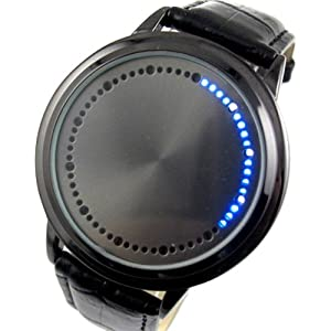 Elegant Blue Hybrid Touch Screen LED Watch, with 60 Blue LED Lights, High Class