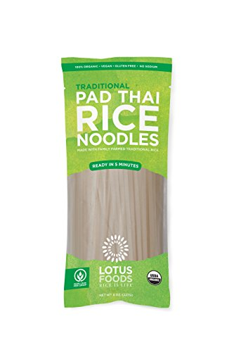 (Lotus Foods Gourmet Organic Traditional Pad Thai Noodles, 8 Count)