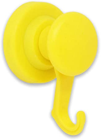 Yellow -40 43mm Dia Rubber Coated Neodymium Swivel Hook Magnet Expert NPT43R Y Pack of 40