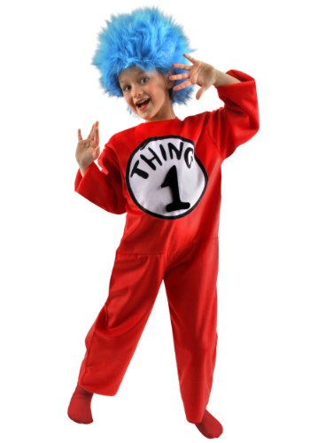 elope Big Boys' Thing 1 and 2 Costume Medium (8-10) -